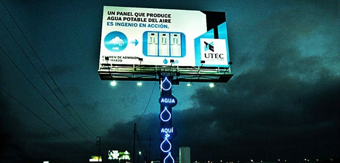 billboard turns humidity into clean drinking water