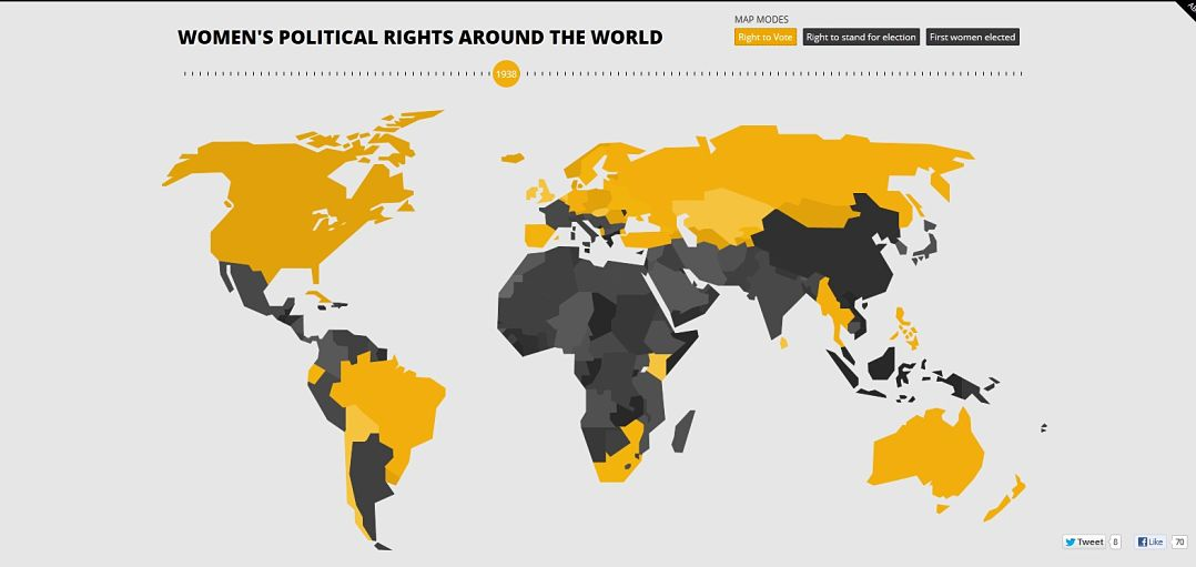 An interactive map displays womens political rights around the world gumiabroncs Images