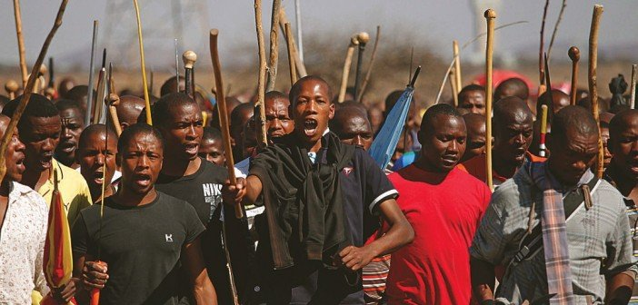 strike in south africa