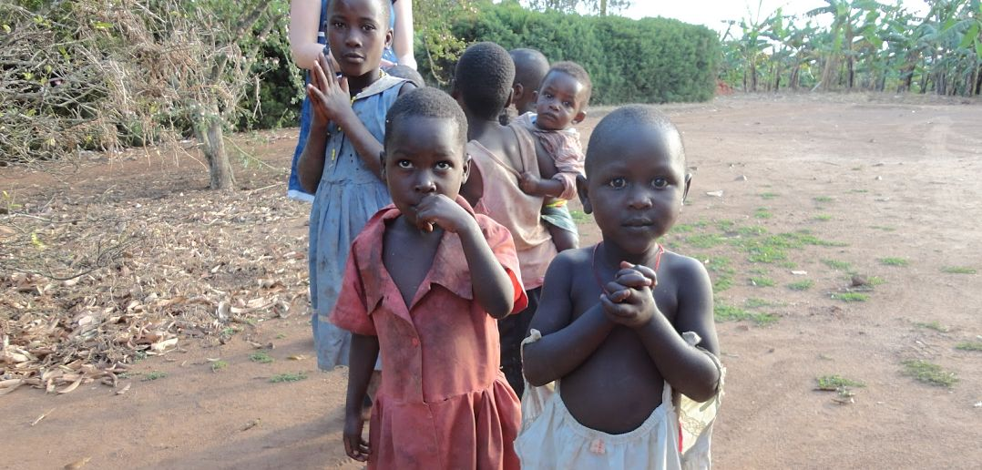 Why do malnourished children have bloated stomachs?
