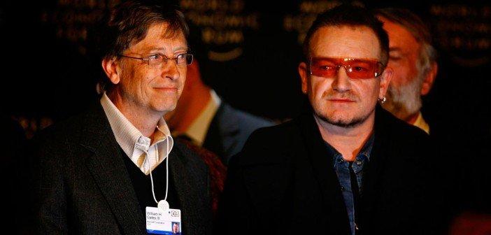 Bill Gates and Bono