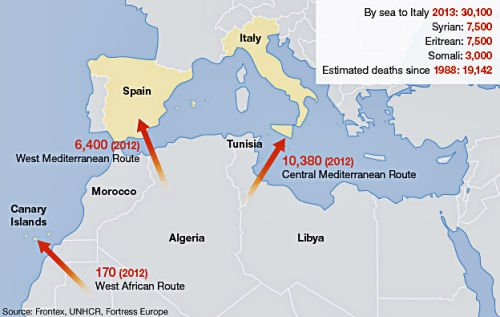 Libya To Italy Map.African Migrants Risk Death To Flee Poverty Borgen