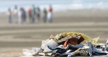 Garbage in ocean